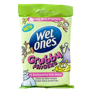 Image for Wet Ones Grubby Fingers Kids Wipes - 15 Pack from Amcal