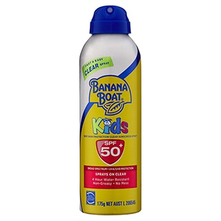 Image for Banana Boat Kids Clear Spray SPF 50+ - 175g from Amcal