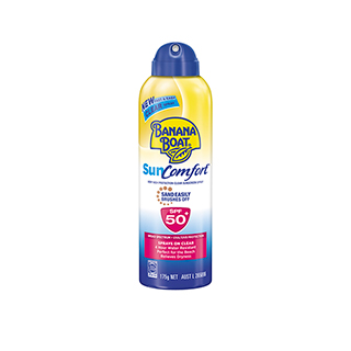 Image for Banana Boat Sun Comfort Clear Spray - 175g from Amcal