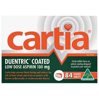 Image for Cartia 100mg - 84 Tablets from Amcal