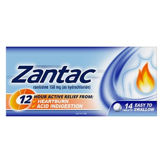 Image for Zantac 12 Hour 150Mg - 14 Tablets from Amcal