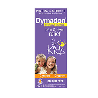 Image for Dymadon Paracetamol 2-12 Years Colour Free 100Ml from Amcal