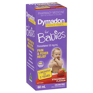 Image for Dymadon Baby - 1 Month-2 Years - Strawberry - 60mL from Amcal