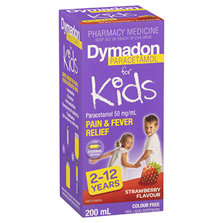 Image for Dymadon For Kids 2-12 Years Colour Free Strawberry  200mL from Amcal