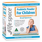 The Lifespace Probiotic For Children is specifically formulated to enhance a child's immune system ,to help reduce the frequency and severity of viral infections , promote healthy bowel movements and aid in reducing dry skin.