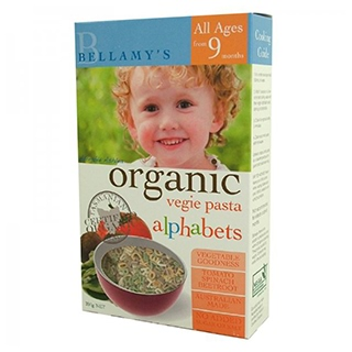 Image for Bellamy's Organic Vegie Pasta Alphabets from Amcal