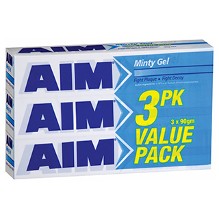 Image for Aim Value Minty Gel - 3 Pack from Amcal