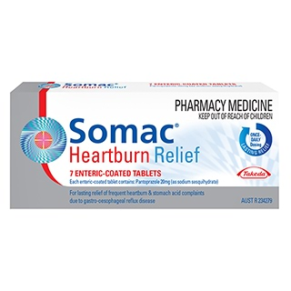 Image for Somac Heartburn Relief - 7 Tablets from Amcal