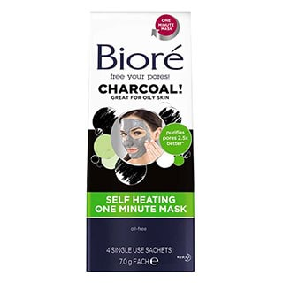 Image for Biore Self Heating One Minute Mask - 4 Pack from Amcal