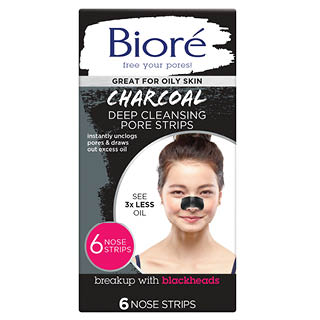 Image for Biore Charcoal Pore Strips 6 Pack from Amcal