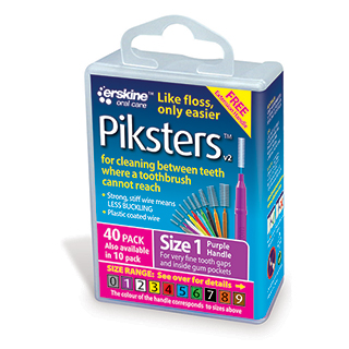 Image for Piksters Inter Dental Brush Size 1 - 40 Pack from Amcal