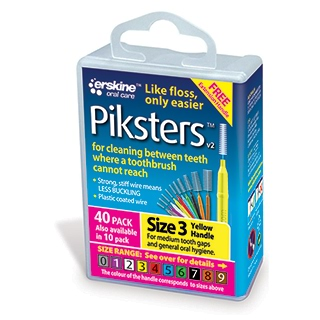 Image for Piksters Interdental Brushes Size 3 - 40 Pack from Amcal