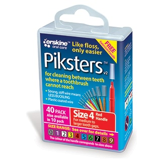Image for Piksters Interdental Brush Size 4 - 40 Pack from Amcal