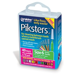 Image for Piksters Interdental Brush Size 6 - 40 Pack from Amcal