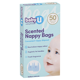 Image for Baby U Nappy Sacks - 50 Pack from Amcal