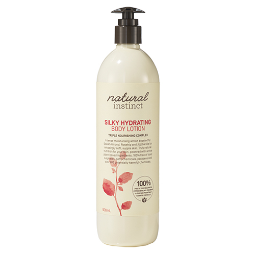 Image for Natural Instinct Silk Hydrating Body Lotion - 500mL from Amcal