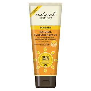 Image for Natural Instinct Invisible Sunscreen SPF30 - 200g from Amcal
