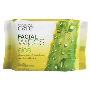 Image for Pharmacy Care Facial Wipes Aloe Vera - 25 Pack from Amcal