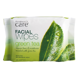 Image for Pharmacy Care Facial Wipes Green Tea - 25 Pack from Amcal