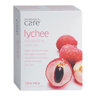 Image for Pharmacy Care Lychee Soap - 2 Pack from Amcal