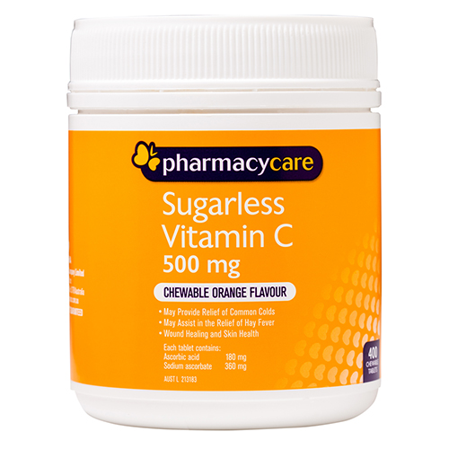 Image for Pharmacy Care Vitamin C Sugarless - 400 Tablets from Amcal