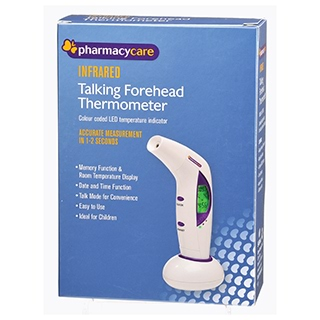 Image for Pharmacy Care Thermometer Forehead Infrared from Amcal