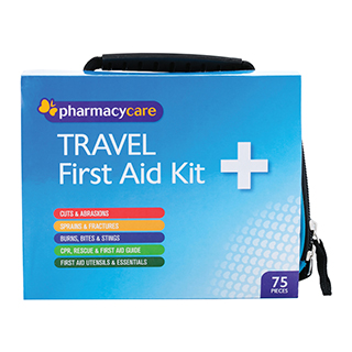 Image for Pharmacy Care First Aid Kit Travel - 75 Pieces from Amcal