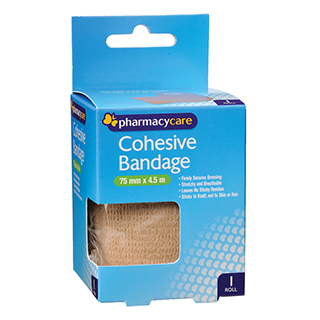 Image for Pharmacy Care Cohesive Bandage 75mm x 4. 5M - 1 Roll from Amcal