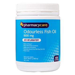 Image for Pharmacy Care Odourless Fish Oil 1000mg -400 Capsules from Amcal