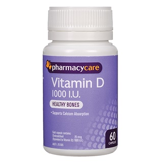 Image for Pharmacy Care Vitamin D 1000IU - 60 Capsules from Amcal