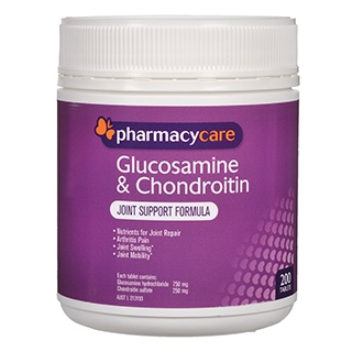 Image for Pharmacy Care Glucosamine & Chondroitin - 200 Tablets from Amcal