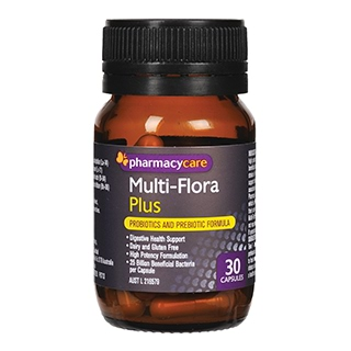 Image for Pharmacy Care Multiflora Plus probiotics - 30 Capsules from Amcal
