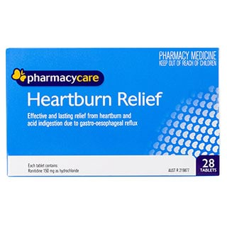 Image for Pharmacy Care Heartburn Relief Tabs 150mg - 28 Pack from Amcal