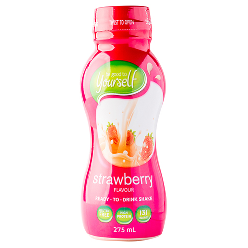 Image for Be Good to Yourself Ready To Drink Shake Strawberry - 275mL from Amcal