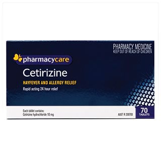 Image for Pharmacy Care Cetirizine 10mg - 70 Tablets from Amcal