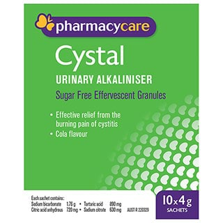 Image for Pharmacy Care Cystal Sachets 4g - 10 Pack from Amcal