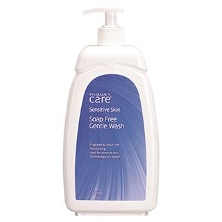 Image for Pharmacy Care Sensitive Skin Soap Free Gentle Wash - 1L from Amcal