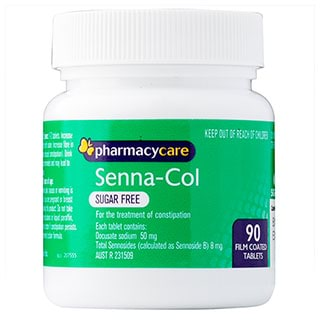 Image for Pharmacy Care Senna-Col Sugar Free - 90 Tablets from Amcal