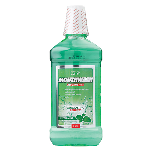 Image for Pharmacy Care Mouthwash Fresh Mint - 1 Litre from Amcal