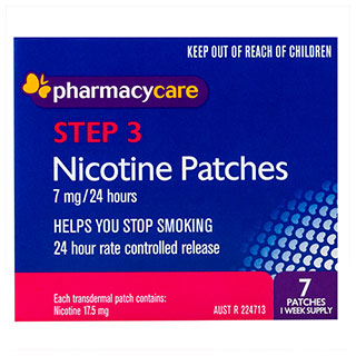 Image for Pharmacy Care Nicotine Patches 7 mg - 7 patches from Amcal