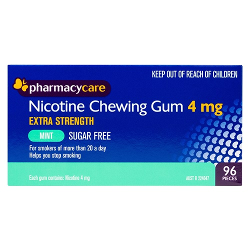 Image for Pharmacy Care Nicotine Gum 4mg Mint - 96 Pack from Amcal