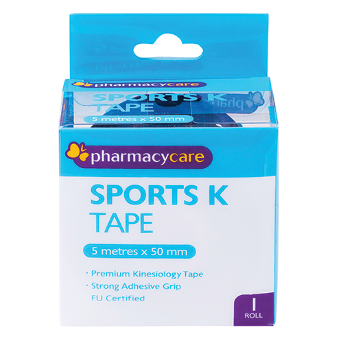 Image for Pharmacy Care Sports K Tape 50mm x 5m Black from Amcal