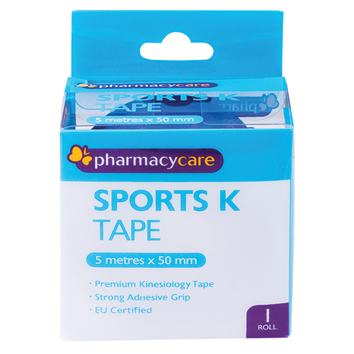 Image for Pharmacy Care Sports K Tape 50mm x 5m Blue from Amcal