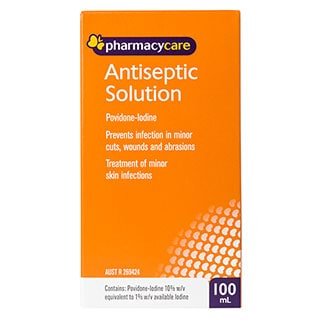 Image for Pharmacy Care Antiseptic Solution - 100mL from Amcal