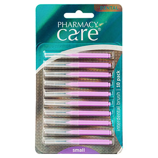 Image for Pharmacy Care Interdental Brush - Small - 10 Pack from Amcal