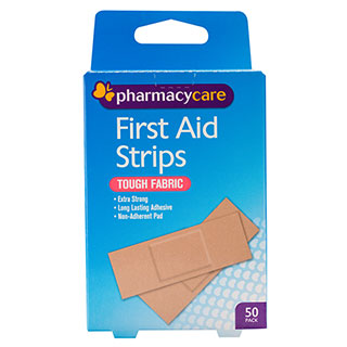 Image for Pharmacy Care First Aid Strip Fabric Tough - 50 Pack from Amcal