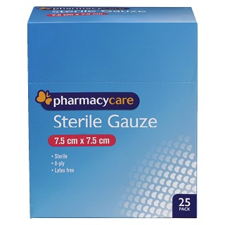 Image for Pharmacy Care Sterile Gauze - 25 Pack from Amcal