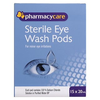 Image for Pharmacy Care Sterile Eye Wash Pods 20mL - 15 Pack from Amcal