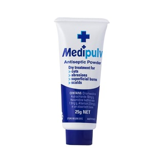 Image for Medipulv Antiseptic Powder - 25g from Amcal