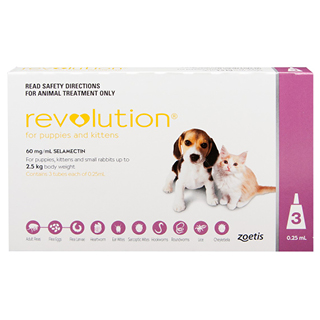 Image for Revolution For Puppies & Kittens Up To 2.5kg Pink - 3 Pack from Amcal